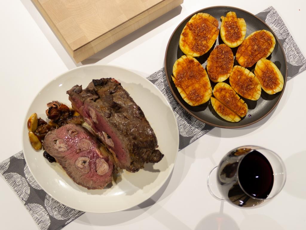 Roast Beef al horno con guarnición de patatas